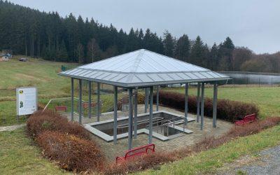 Ausbau / Ausstattung von Wanderwegen – Überdachung der Kneippanlage
