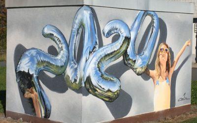 Farben machen Wände bunter – enviaM fördert Graffiti-Workshop für Schönecker Hort-Kinder