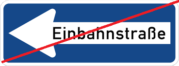 Einbahnstraßenregelungen aufgehoben